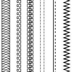 Free Fashion Design Brushes: Zippers & Stitching Illustrator