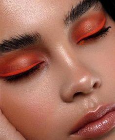 """Oh, that orange Smokey! - Augen Make Up Makeup Trends, Makeup Inspo, Makeup Inspiration, Makeup Ideas, Business Makeup, Make Up Artist Ausbildung, Art Visage, Beauty Make-up, Natural Beauty"