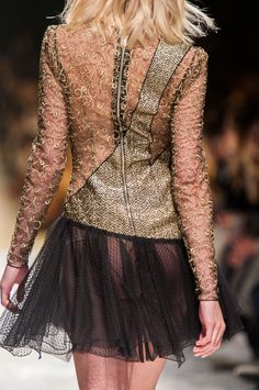 Blumarine at Milan Fashion Week Fall 2014 - StyleBistro