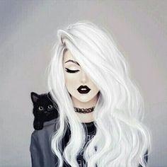 Girly m girl drawing Girly Drawings, Pretty Drawings Of Girls, Pretty Girl Drawing, Lady Drawing, Black Cat Drawing, Girl Hair Drawing, Drawing Girls, Beautiful Drawings, Beautiful Images