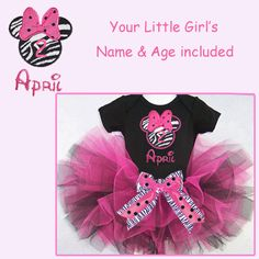 Minnie Mouse personalized tutu for Kennedy