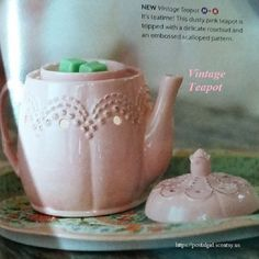 """Scentsy """"Vintage Teapot"""" Warmer fall 2014. Premium warmer is $35.00 and is 6.5"""" tall"""