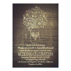 #weddinginvitation #weddinginvitations (country rustic mason jar floral wedding invitation) #BarnWedding #FallWedding #FarmWedding #FloralMasonJarWedding #Hearts #LoveHeartWedding #MasonJarWedding #RanchWedding #Rustic #RusticCountryWedding #SpringWedding #SummerWedding #SunflowersWedding #VillageWedding #WildflowersWedding #WinterWedding #WoodWedding #Wooden is available on Custom Unique Wedding Invitations store http://ift.tt/2aJkTyV