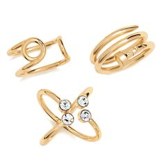 Available in large set (sizes 8 only.Nail the latest jewelry look and pin down your personal style with this trio of trendy rings you can wear tons of different ways. Fashion Mark, Fashion Rings, Jewelry Gifts, Jewelery, Avon Rings, Avon Mark, Avon Fashion, Latest Jewellery, Photo Jewelry