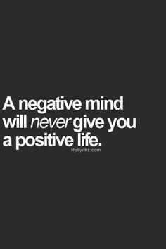 Need positivity!