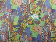 Comic Cartoon Print Knit Fabric