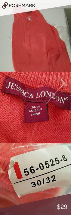 NWT(SHIPPING BAG) Coral Cardigan NWT(SHIPPING BAG) Coral Cardigan Jessica London Sweaters Cardigans