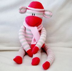 Sock Monkey Kit, via Etsy.  For Ellie
