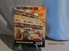 Vintage 1970 The California 500 Inaugural Race Ontario Motor Speedway