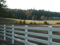 #Vinyl horse fencing Also known as post and rail fencing. Super easy to install and will last a lifetime.