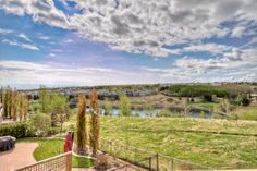 Panoramic view of ravine and pond!
