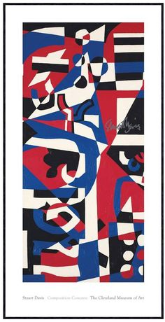 McGaw Graphics Composition Concrete (Study for Mural), 1957-1960 by Stuart Davis (Framed Print)