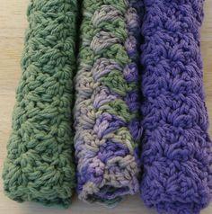 Cotton Kitchen Dishcloths in Purple & Green Hand von CandacesCloset