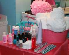 spa party ideas for girls birthday | spa party this spa party picture is from my daughter s 8th birthday ...