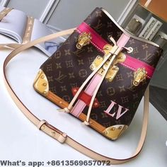 61a009f6f2455 Louis Vuitton Summer Trunks Monogram Canvas Neonoe Bucket Bag M60649 2018   Louisvuittonhandbags Taschen Nähen