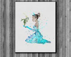 Poster - Princess & the Frog Tiana Abstract