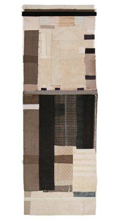 hand stitching on salvaged fabric - Lisa Hochstein