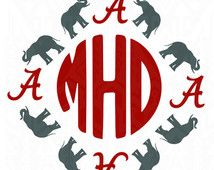 Alabama elephant roll tide design kit files use your for Alabama football mural