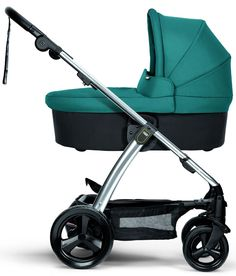 a3a883d4a6 Mamas   Papas Sola2 Chrome Reversible Seat Baby Stroller w  Carrycot Petrol  Blue Mamas And