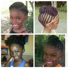 natural hair for kids   ... page with many creative ideas on appropriate hairstyles for children