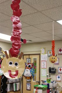 """Students counted the apples on """"Johnny's"""" head during math centers.  Mrs. Lee's Kinderkids Blog"""