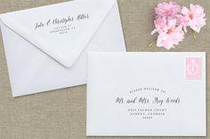 Printable Envelope Template DIY Custom by StudioNellcoteDesign