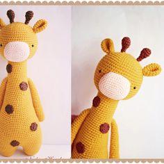 Giraffe by nguyenthinghia060383. Crochet pattern by Little Bear Crochets: www.littlebearcrochets.com ❤️ #littlebearcrochets #amigurumi