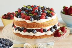 Raspberries, blackberries, and blueberries with lime zest makes this shortcake delightful and unique!