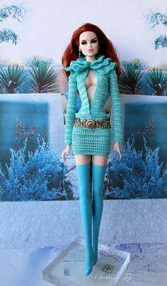 Crochet Barbie Clothes, Doll Clothes, Big And Beautiful, Beautiful Dolls, Barbie Dress, Barbie Doll, Sport Chic, Art Dolls, Lana
