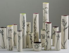 Cathy Franzi is an Australian ceramic artist who explores the diversity of the plant world through texture and form. Her vessel groupings reference her research into current botanical and environmental knowledge. Australian Plants, Plant Art, Ceramic Artists, Art School, Art History, Orchids, Graduation, Art Gallery, Seasons