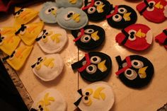 Angry Birds ornaments for party favors