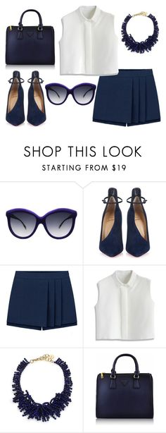 """""""Untitled #164"""" by mounajed ❤ liked on Polyvore featuring moda, Italia Independent, Christian Louboutin, Chicwish, Nest, women's clothing, women's fashion, women, female y woman"""