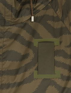 OAMC,Khaki Animal-Print Nylon Parka,GREEN,4