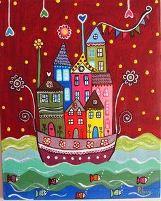 Casas navegando