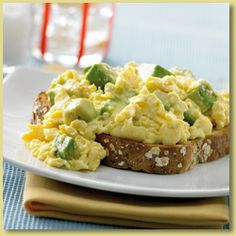 #Brunch: avocado Scrambled Eggs