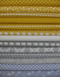 grey and yellow nursery bundle