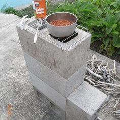 DIY Concrete Block Rocket Stove Tutorial