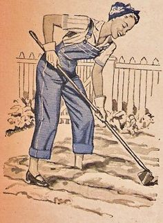 If only I looked this stylish when I gardened - don't think any gloves would stay white for long, and I'm not sure about the dolly shoes! :)