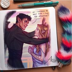Gonna end 2018 with a redraw of a Feysand piece from last year! Man, I did not realize how cringey the old one looks 😂 I guess it really… A Court Of Wings And Ruin, A Court Of Mist And Fury, Fanart, Saga, Feyre And Rhysand, Sarah J Maas Books, Arte Sketchbook, Sara J Maas, Film Serie