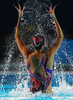 Yukiko Inui of Japan competes in the Synchronized Swimming Solo Technical final on day one of the 15th FINA World Championships at Palau Sant Jordi on July 20, 2013 in Barcelona, Spain.