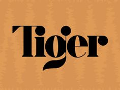 Style Tiger typography — a little Didone strangeness going on here — but the letterforms are intriguing.Tiger typography — a little Didone strangeness going on here — but the letterforms are intriguing. Typography Layout, Typography Letters, Typography Poster, Graphic Design Typography, Japanese Typography, Graphic Prints, Inspiration Typographie, Typography Inspiration, Graphic Design Inspiration
