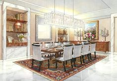 Genesis Studios knows in successful Architectural Interior Illustrations & renderings, lighting, the accuracy of the perspective, along with scale are critical. Call us today!