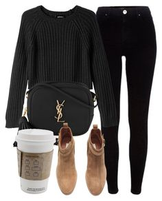 A fashion look from September 2016 by laurenmboot featuring Monki, River Island, H&M and Yves Saint Laurent Look Fashion, Fashion Outfits, Womens Fashion, Fashion Trends, Retro Fashion, Korean Fashion, Fashion Tips, Fall Winter Outfits, Autumn Winter Fashion