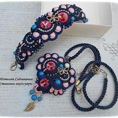 Soutache Bracelet, Soutache Pendant, Soutache Jewelry, Beaded Bracelets, Shibori, Beaded Embroidery, Jewelery, Beads, Unique