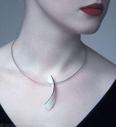 Arc L - porcelain / sterling silver - Whitebeam Studio #WhitebeamStudio…