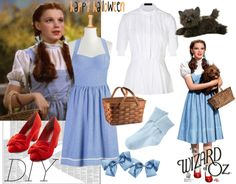 """""""Halloween costume: Wizard of oz Dorothy"""" by atiya234 ❤ liked on Polyvore"""