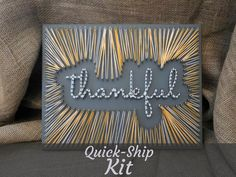 Thankful - Quick-Ship String Art Kit