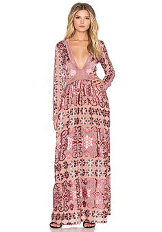 For Love & Lemons Temecula Maxi Dress en Vino   REVOLVE