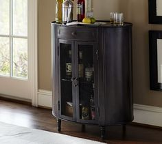 Anderson Metal Bar Cabinet | Pottery Barn