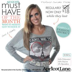 It's here! The August must-have look of the month is cute & comfy! :)